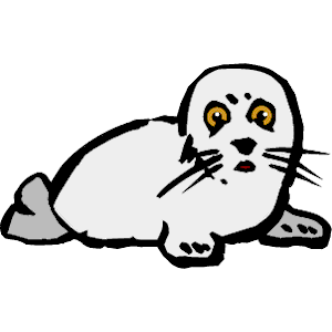 Man seal coating clipart black and white.