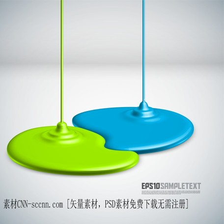 Coating Dripping Shape, Vector.