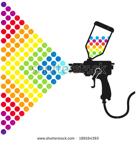 Paint Spray Gun Stock Images, Royalty.