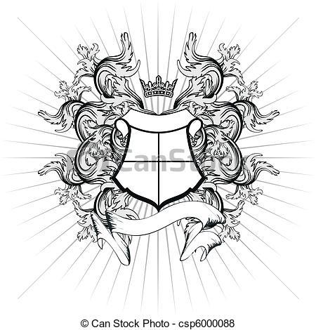 Vector of heraldic coat of arms copyspace10.