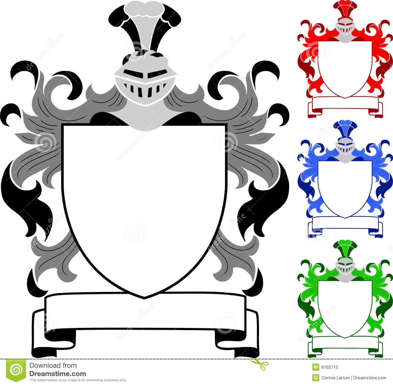 Heraldic Crest/Coat Of Arms/eps Royalty Free Stock Photo.