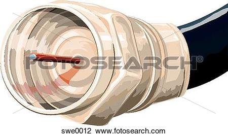 Clip Art of coaxial cable swe0012.