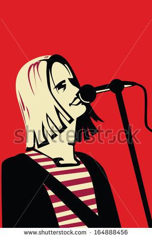 Kurt Cobain Stock Vectors & Vector Clip Art.