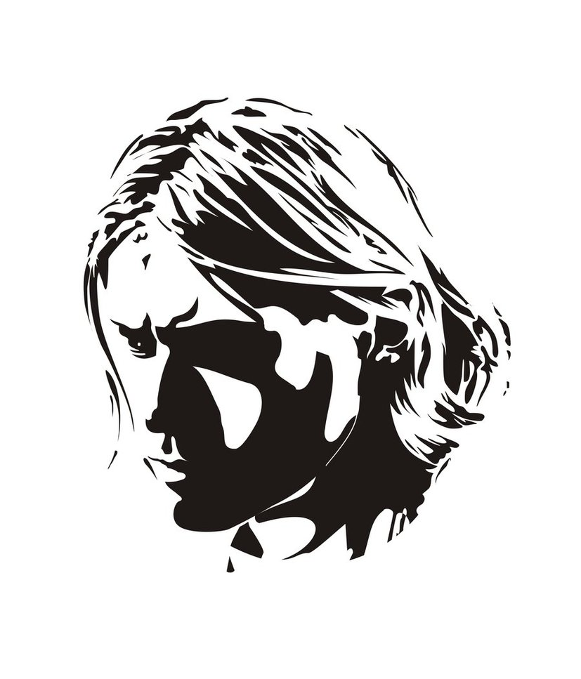 Kurt cobain clipart.