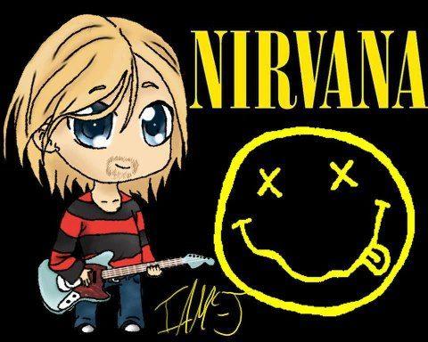 Nirvana Cartoon: Kurt Cobain.