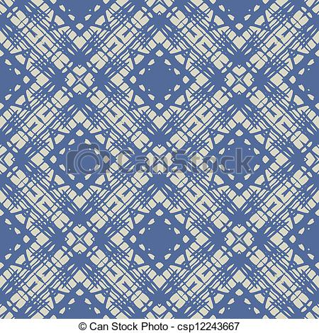 Clip Art Vector of cobalt blue simple linear geometric pattern.