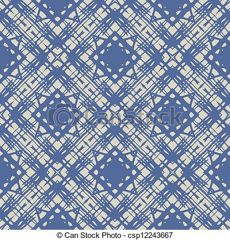 Clip Art Vector of cobalt blue simple linear geometric pattern.