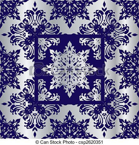 Clipart of silver cobalt reflief sq.