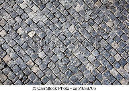 Stock Images of Cobblestone pavement texture.