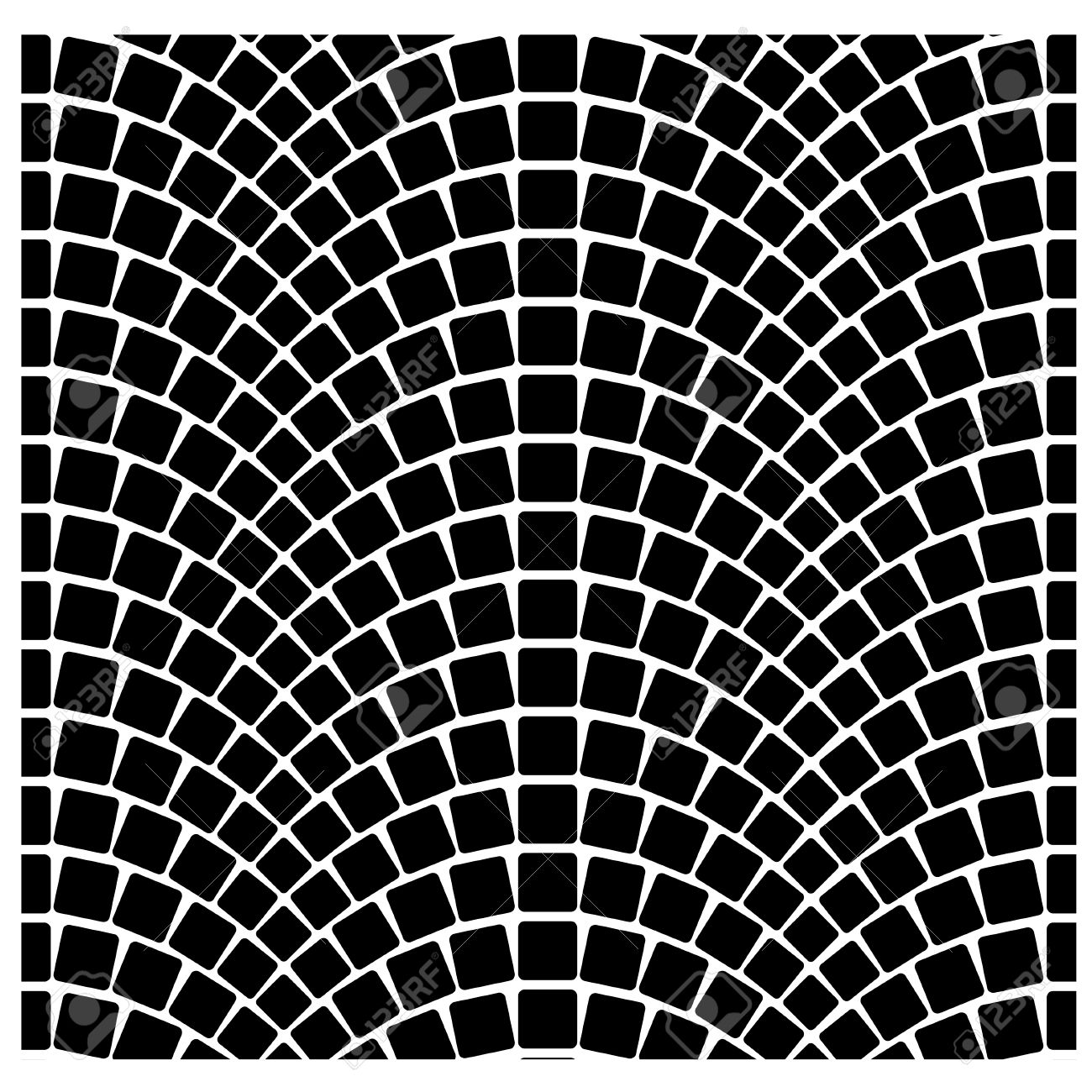 Vector Black Seamless Cobblestone Pavement Pattern Royalty Free.