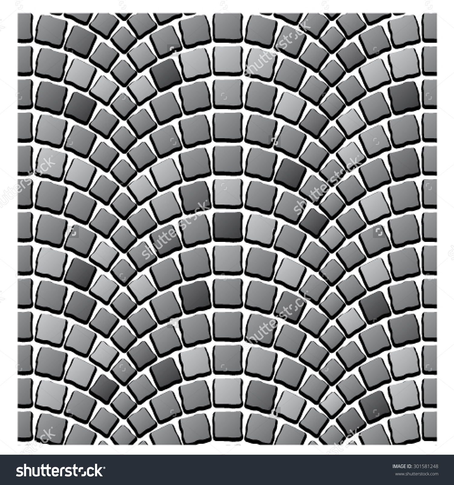 Vector Seamless Cobblestone Pavement Pattern Stock Vector.