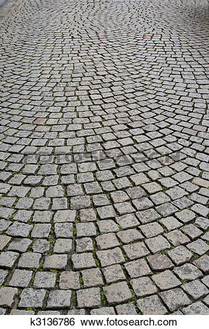 Stock Images of Old cobblestone pavement k3136786.
