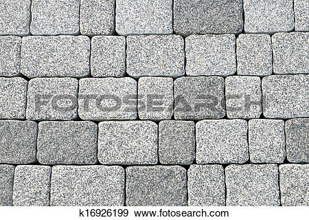 Stock Photograph of Abstract cobblestone pavement texture.