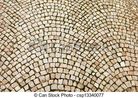 Picture of Cobblestone Pattern On Czech Street.
