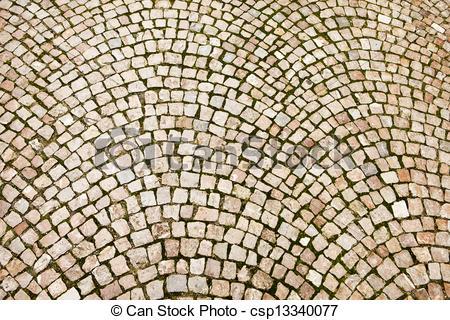 Picture of Cobblestone Pattern On Czech Street.