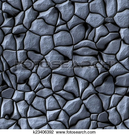 Clip Art of Cobble stones abstract seamless generated hires.