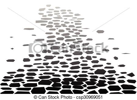 Clipart Vector of Cobbled Street Background.