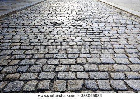 Stone road clipart.
