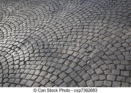 Stock Photos of Cobbled Street in Paris, France csp7362683.