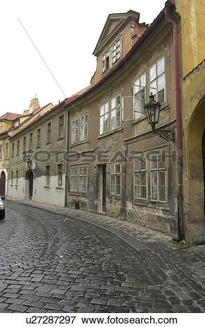 Picture of Cobbled stone street in Prague u27287297.