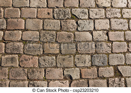 Stock Photography of Old cobbled street background.