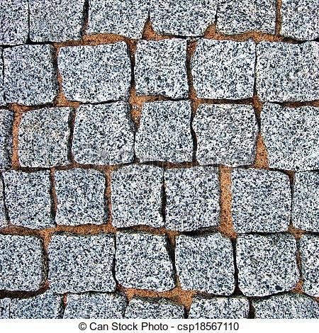 Stock Photography of Granite Cobblestone Pavement Texture.