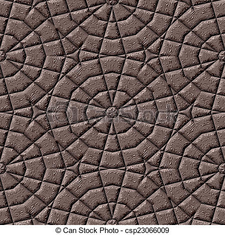 Stock Illustration of ornate cobble stone pavement texture.