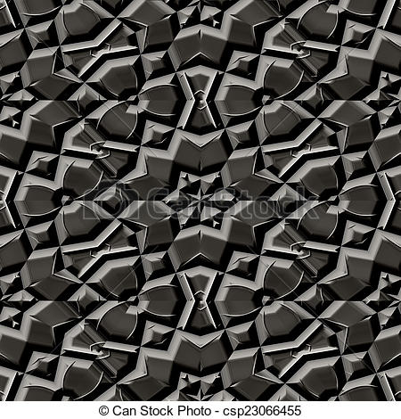 Stock Illustrations of ornate cobble stone pavement texture.