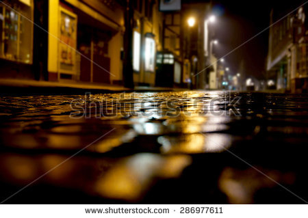 Cobbled Street Stock Photos, Royalty.