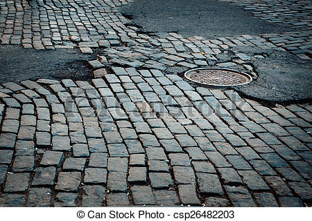 Stock Photography of Cobbled Street.