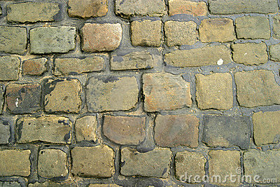Cobbled Street Stock Photography.