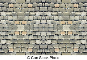 Clip Art of Wood Brick Wall Background.