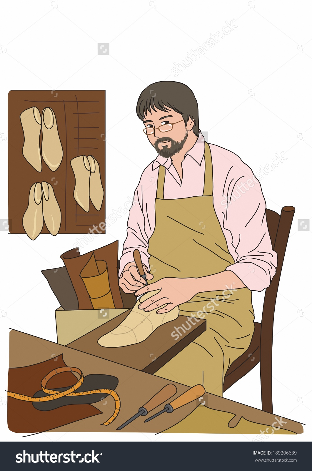 Illustration Cobbler Stock Illustration 189206639.