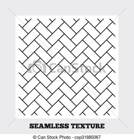 Clip Art Vector of Cobbles grid stripped seamless pattern.
