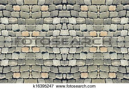 Stock Illustration of Cobbles Street Pattern k16395247.
