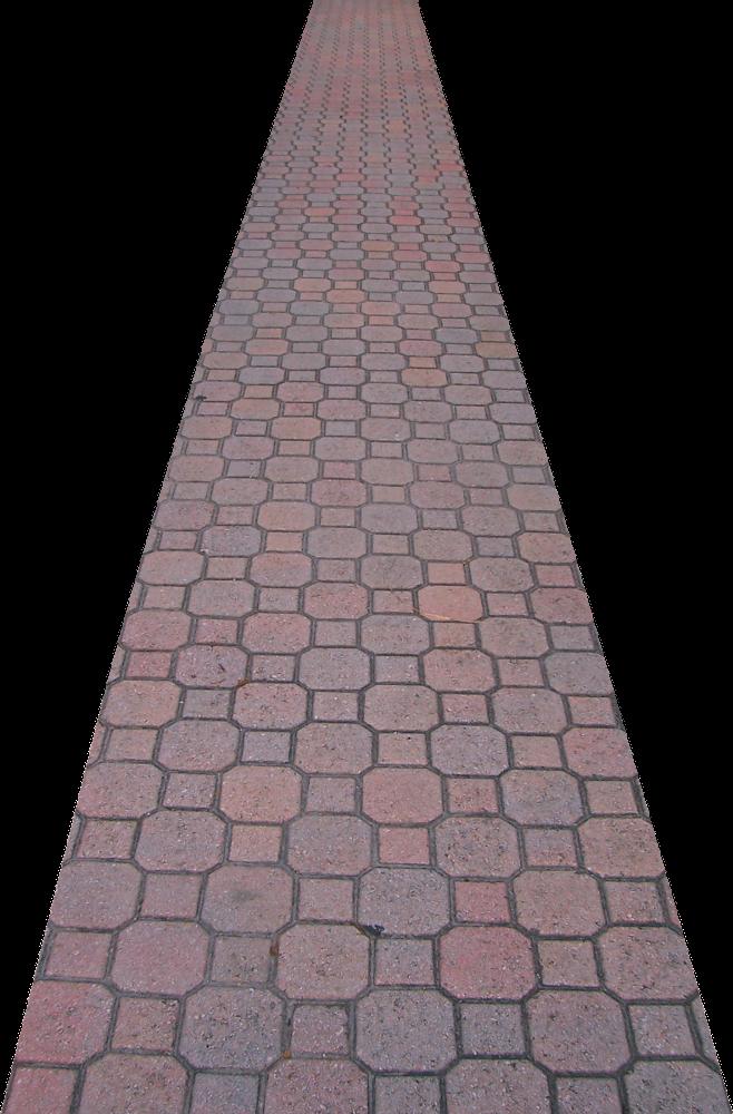 Cobblestone path clipart.