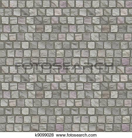 Stock Illustration of Cobblestone Floor Seamless Pattern k9099028.
