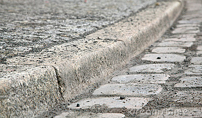 Cobblestone Curb Stock Images.