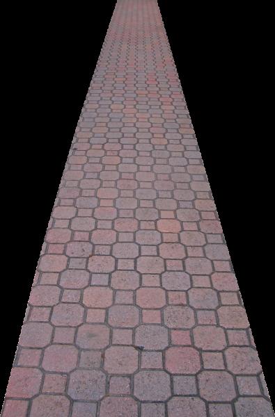 Clip Art Cobblestone Path.