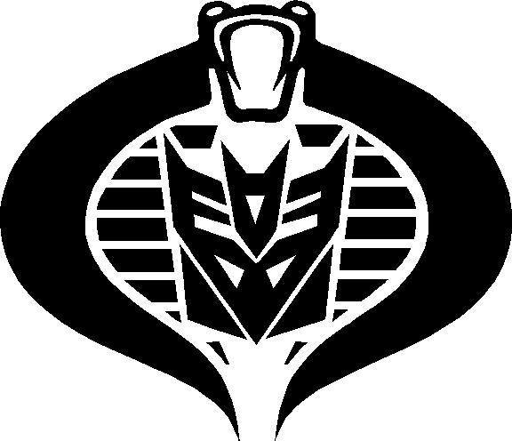 Decepticon Cobra Commander Decal / Sticker.