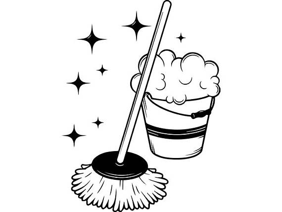 7569 Cleaning free clipart.
