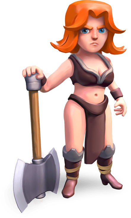 Clash Of Clans Valkyrie transparent PNG.