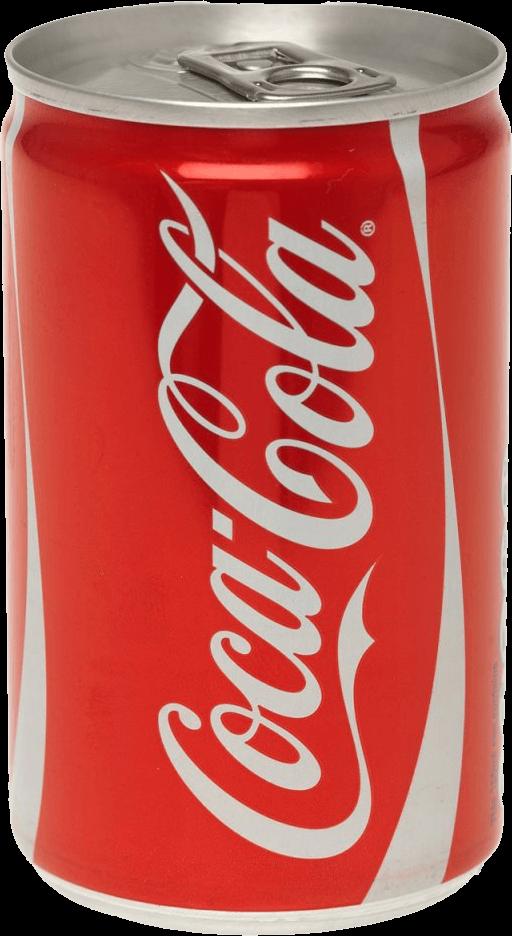 Regular Coke Can Coca Cola transparent PNG.