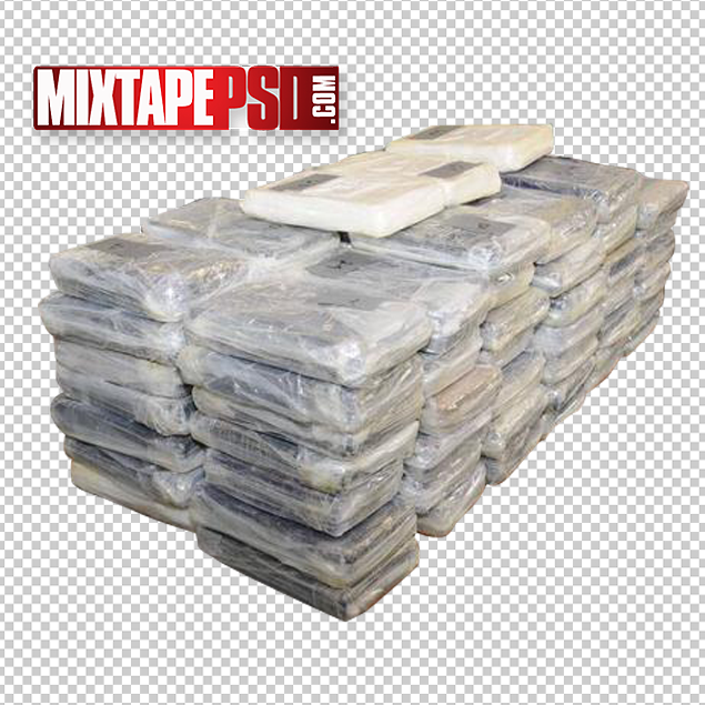 Cocaine Stacked Bricks PNG.