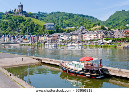 Cochem Mosel River Stock Photos, Royalty.
