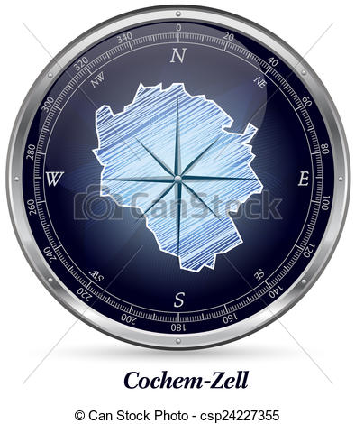 Stock Illustrations of Map of Cochem.
