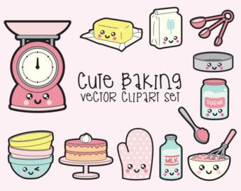 Clipart vectorial de alta calidad. Adorable cocina vector clip art.