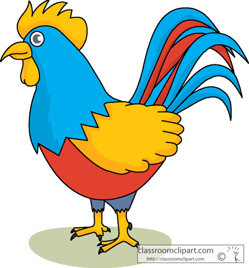 Rooster cock high quality clip art.