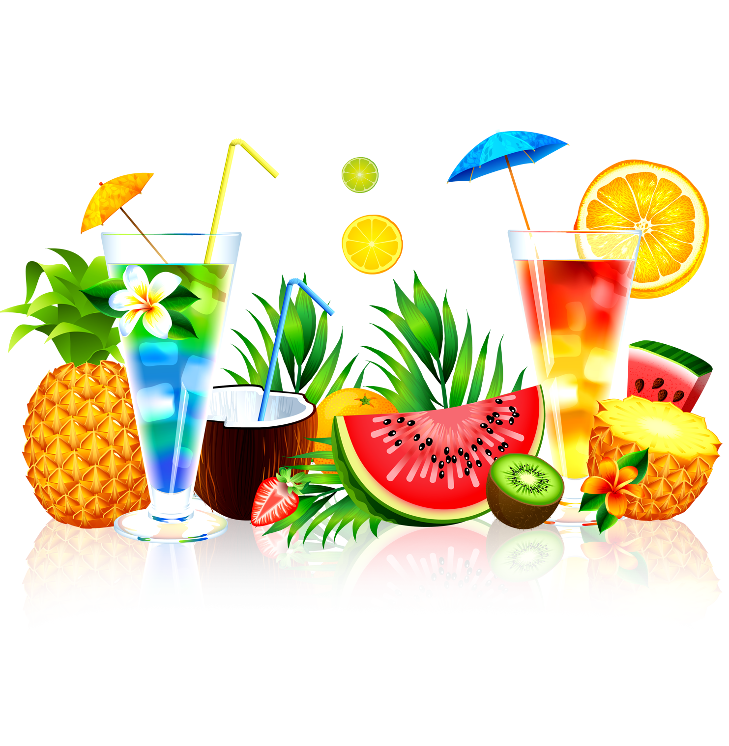 Cocktail clipart pineapple drink, Cocktail pineapple drink.