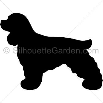 Cocker Spaniel silhouette clip art. Download free versions of the.